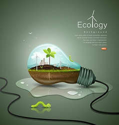 Light bulb ecology concept design background vector image