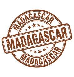 Madagascar brown grunge round vintage rubber stamp vector