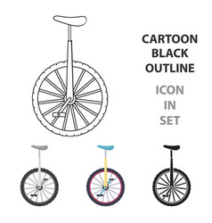 Monocycle icon in cartoon style isolated on white vector