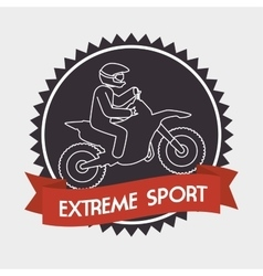 motorcycle rider extreme sport banner vector image
