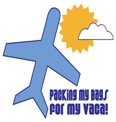 Packing For Vaca vector image vector image