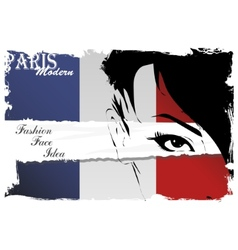 Paris vintage grunge poster vector image vector image
