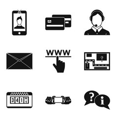 portable tech icons set simple style vector image vector image
