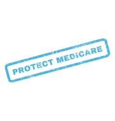 Protect medicare rubber stamp vector