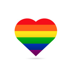 rainbow flag lgbt symbol on heart vector image vector image