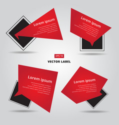 sale flat banner label set cards in material vector image