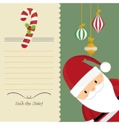 Santa cartoon of chistmas design vector