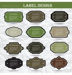 Set retro business labels Card or invitation vector image