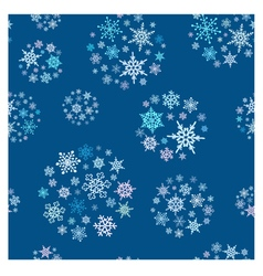 Snowflakes balls seamless pattern vector image