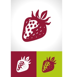 Stylised strawberry icons vector