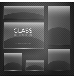 Transparent glass vertical and horizontal vector image