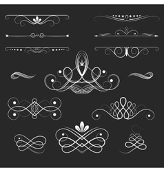 Vintage Decorative Elements vector image vector image