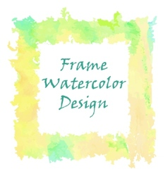 Watercolor frame design vector image