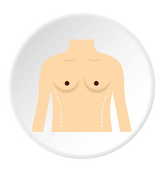 Woman prepared to waist surgery icon circle vector