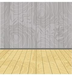 Wooden walls and floor vector