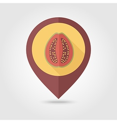 Guava flat pin map icon tropical fruit vector