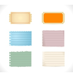 Torn blank papers vector