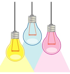 Colorful light bulbs vector image