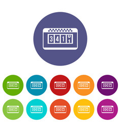 taximeter set icons vector image