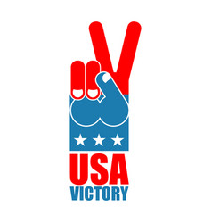 Finger victory usa america win hand symbol of usa vector