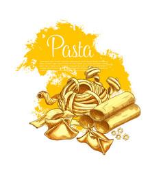 Pasta poster for italian restaurant vector