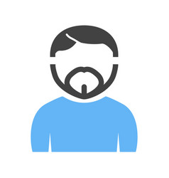Man in french goatee vector