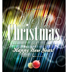 Merry christmas with typographic desi vector