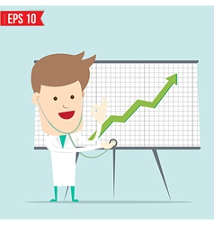 Doctor use stethoscope checking up business vector