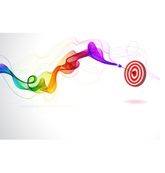 Abstract colorful background with arrow hitting a vector