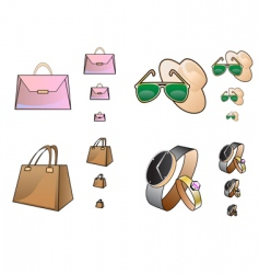 Web store accessory icons vector