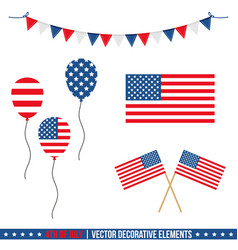 4th of july decorative elements vector image