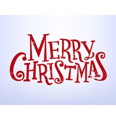 Holiday lettering merry christmas vector