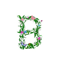 letter flower vector image