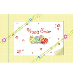 Eggs with flowers vector