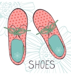 An of fashionable girl shoes vector