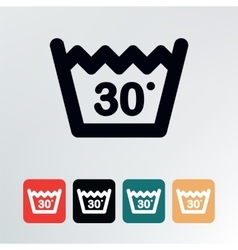 Wash at or below icon vector