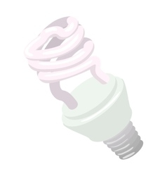 Efficient powersaving bulb cartoon icon vector