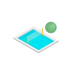 Pool volleyball 3d isometric icon vector
