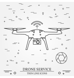 Drone service video and photography drone services vector