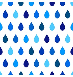 Blue tone rain white background vector