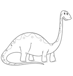 animal outline for dinosaur long neck vector image vector image