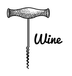 Best wine corkscrew icon vector