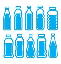 bottles2 vector image vector image