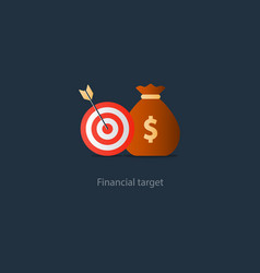 Business goal credit money for needs budget fund vector