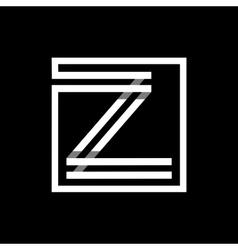 Capital letter Z Monogram logo emblem vector image vector image
