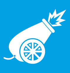 Circus cannon icon white vector