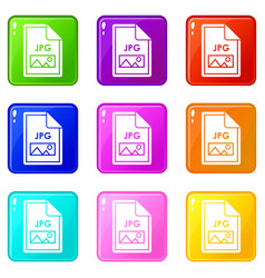 file jpg icons 9 set vector image