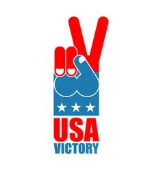 finger victory usa america win hand symbol of usa vector image