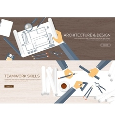 Flat architectural project vector