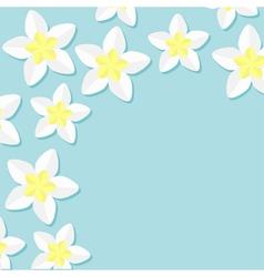 Frangipani plumeria tropical flower icon set vector